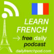 Learn French with daily podcasts Logo